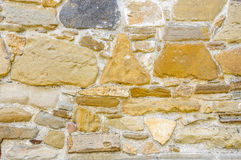 Restored old stone wall Stock Photos