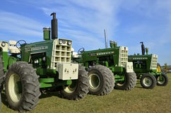 Restored Oliver tractors 1750, 1950, and 1955 Stock Images