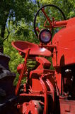Restored and painted red tractor Stock Photography