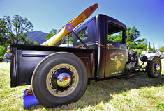 Restored pickup with a propeller Royalty Free Stock Photography