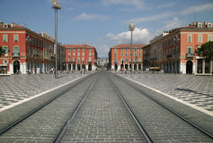 Restored Place Massena - Nice France Stock Photography