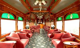 Restored Rail Car - 1. Restored Victorian-Era Lounge Car royalty free stock photography