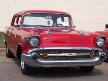 Restored Red Chevrolet Stock Image