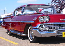 Restored Red Chevrolet Stock Photography