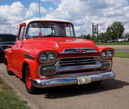 Restored Red Chevrolet Truck Stock Image