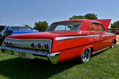 Restored 1962 Red Chevy Impala royalty free stock images