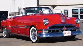 Restored Red Pontiac Convertible Stock Photo