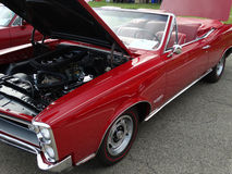 Restored 1966 Red Pontiac Convertible  Royalty Free Stock Photo