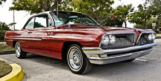 Restored Red Pontiac royalty free stock photography