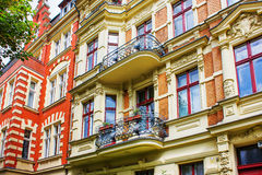 Restored Residential House in Berlin Royalty Free Stock Images