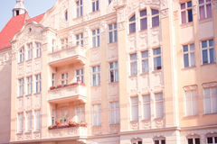 Restored Residential House in Berlin Stock Photography