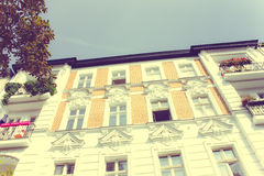 Restored Residential House in Berlin Royalty Free Stock Photo