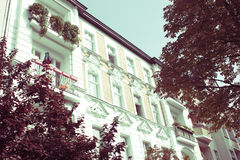 Restored Residential House in Berlin Stock Photos