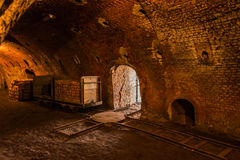 Restored ring oven of a brickyard Stock Photos