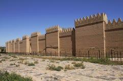 Restored ruins of ancient Babylon, Iraq Stock Photos