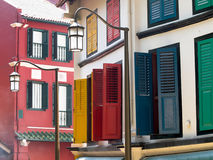 Restored Shophouses Royalty Free Stock Images
