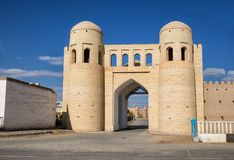 Southern gate of Khiva Stock Photos