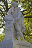Restored statue of William Shakespeare Leicester Square London Stock Image