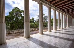 Restored Stoa of Attalos, Athens, Greece Stock Image