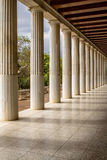 Restored Stoa of Attalos, Athens, Greece Royalty Free Stock Photos