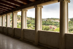 Restored Stoa of Attalos, Athens, Greece Royalty Free Stock Photo