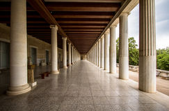 Restored Stoa of Attalos, Athens, Greece Royalty Free Stock Photography