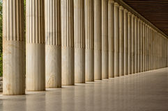 Restored Stoa of Attalos, Athens, Greece Stock Images