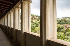 Restored Stoa of Attalos, Athens, Greece Stock Image