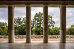 Restored Stoa of Attalos, Athens, Greece Stock Photo