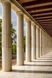 Restored Stoa of Attalos, Athens, Greece Stock Photos