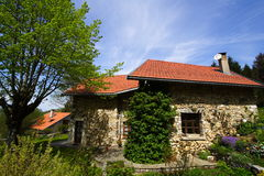 Restored stone house Royalty Free Stock Photos