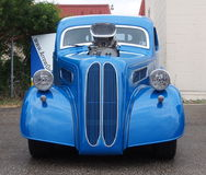 Restored Supercharged Antique Blue Car Royalty Free Stock Photography