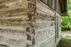 19th century,settlement. A restored 19th century,settlement in Mount Vernon Illinois royalty free stock photo