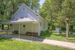 19th century,settlement. A restored 19th century,settlement in Mount Vernon Illinois stock photo