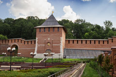 Restored tower of Nizhny Novgorod Kremlin. Russia Royalty Free Stock Photos