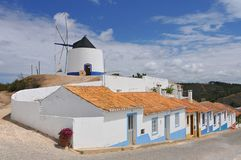 Restored traditional windmill Odeceixe Algarve Portugal. royalty free stock photo