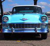 Restored Turquoise Chevrolet Bel Air Royalty Free Stock Photos