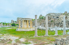 Restored Tyche Temple in Side Royalty Free Stock Photo