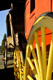 Restored U.S Mail Stagecoach 2. Weathered U.S. Mail Stagecoach Restored in Outdoor Museum located in Sunny Valley, Oregon Stock Photo