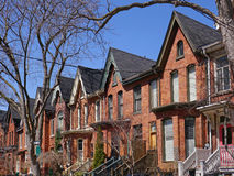 Restored Victorian houses. In downtown Toronto royalty free stock image