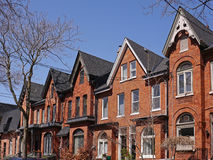 Restored Victorian houses. In downtown Toronto royalty free stock photos