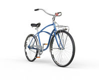 Restored Vintage Blue Bicycle Stock Photo