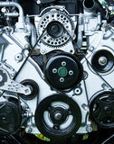 Restored Vintage Engine. A restored vintage internal combustion engine stock images