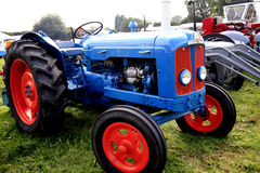 Restored Vintage Tractor. A restored Vintage tractor on display at the Moorgreen Country show, Nottinghamshire, England, UK. 2013 Royalty Free Stock Photo