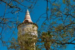 Restored water tower. In a public park in Barcelona district Barceloneta Stock Images