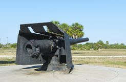 Restored weapon at Fort de Soto. Restored 6-inch Armstrong rapid-fire rifle from Fort Dade. Now situated at Fort de Soto Royalty Free Stock Photography