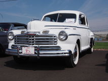 Restored White 1948 Antique Mercury Monarch Royalty Free Stock Photo