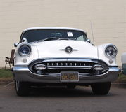 Restored White Oldsmobile Royalty Free Stock Photo