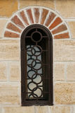 Restored window on castle Royalty Free Stock Photos