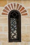 Restored window on castle. Decorative brickwork surrounding restored window on castle Royalty Free Stock Photos